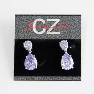 Kenneth Jay Lane Jewelry - CZ by Kenneth Jay Lane Double Tear Lilac Earrings